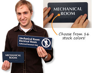 Mechanical Room Signs