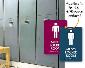 Men's Locker Room Signs
