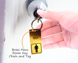 Metal key chain for men's room