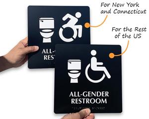 New York ada symbol versus national ada symbol
