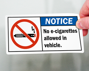 Notice No E-Cigarette Signs