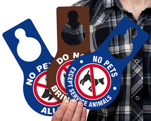 No Pets Allowed Door Hangers