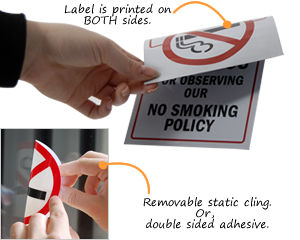 No Smoking Decals