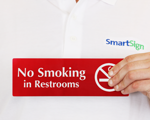No Smoking in Restroom Signs