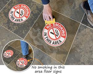 No Smoking in this Area Floor Signs