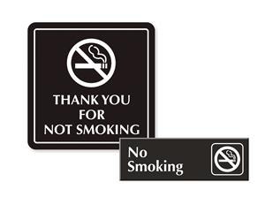 Engraved No Smoking Signs