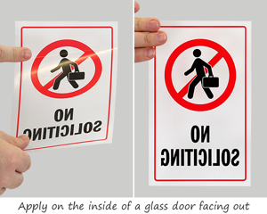 Best Selling - No Soliciting Door Decals