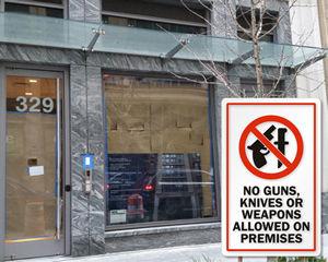 No Guns Signs and No Weapon Signs
