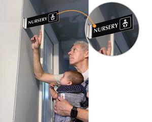 Nursery sign for door