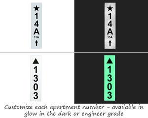 Custom NYC Apartment RCNY 505 Labels