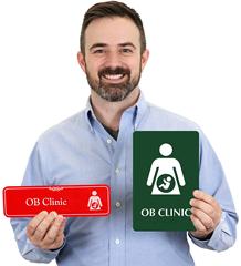 OB Clinic Door Signs