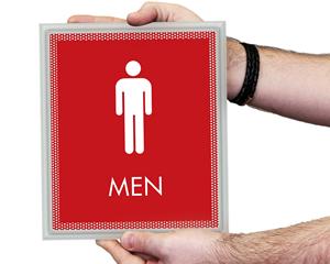 Optik Bathroom Signs