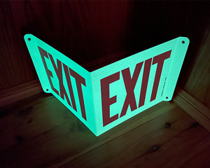 Photoluminescent exit sign