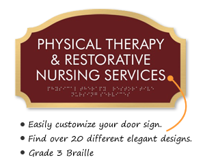 Physical Therapy Room Signs