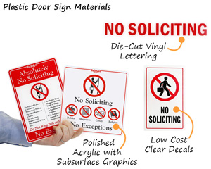 Popular No Soliciting Door Signs