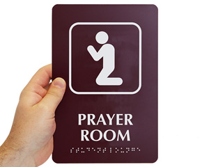 Prayer Room TactileTouch Sign