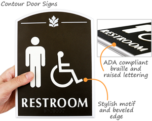 Premium bathroom braille signs