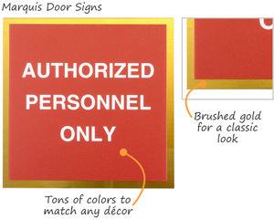 Premium employee door signs