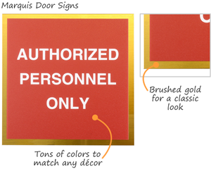 Premium employee door signs