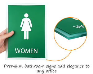 Premium restroom signs