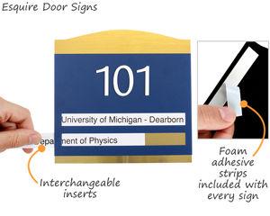 Premium room number braille signs