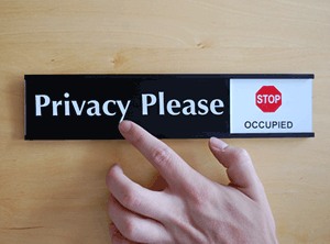 Privacy Protection Signs