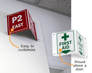 Projecting Safety Signs