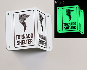 Tornado Shelter Projecting Signs