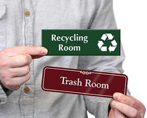 Recycling & Trash Room Signs
