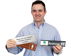 Restroom Door Signs