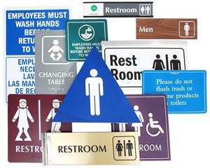 Huge Range of Restroom Signs