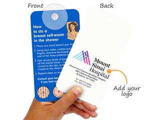Custom Breast Cancer Self-Examination Tag