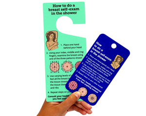 Breast Self-Examination Tag