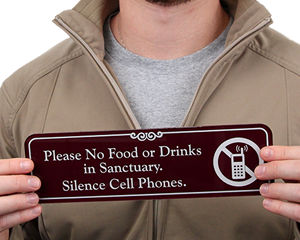 No Food or Beverages Signs