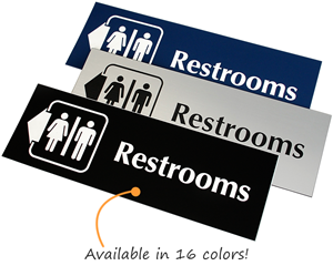 Engraved Restroom Signs
