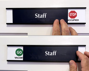 Staff only sliding door sign