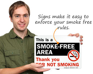 Smoke Free Signs and Labels