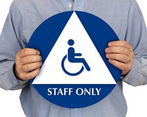 California Unisex ADA Staff Restroom Sign