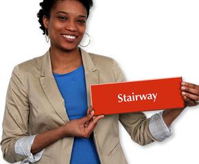 Stairway door sign