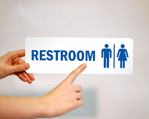 Low Cost Restroom Stickers