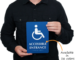 Braille Entrance Signs