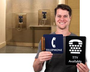 Telephone Location Sign