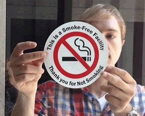 No Smoking Window Decal