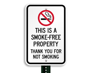 This is Smoke-Free Property Sign