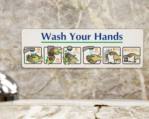 Wash Your Hand Diamond Plate Sign