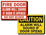 Alarmed Door Signs