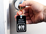 Bathroom Key Tags
