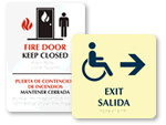 Bilingual Braille Exit Signs