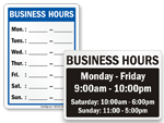 Looking for Business Hours Signs?
