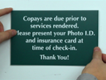 Co-Pay Signs